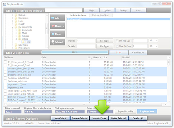 Manage Duplicate Files