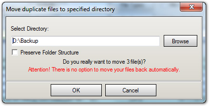 Move Duplicates to Folder